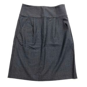 Theory Gray Pencil Skirt Wool with Pockets
